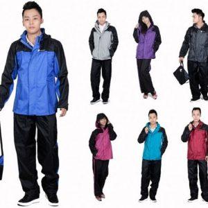 Áo mưa bộ có chất liệu cao cấp và đa dạng kiểu dáng, màu sắc